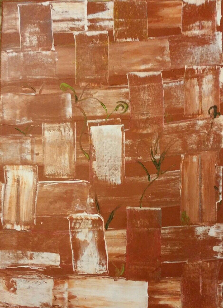 acrilico abstracto 80€ 44×32