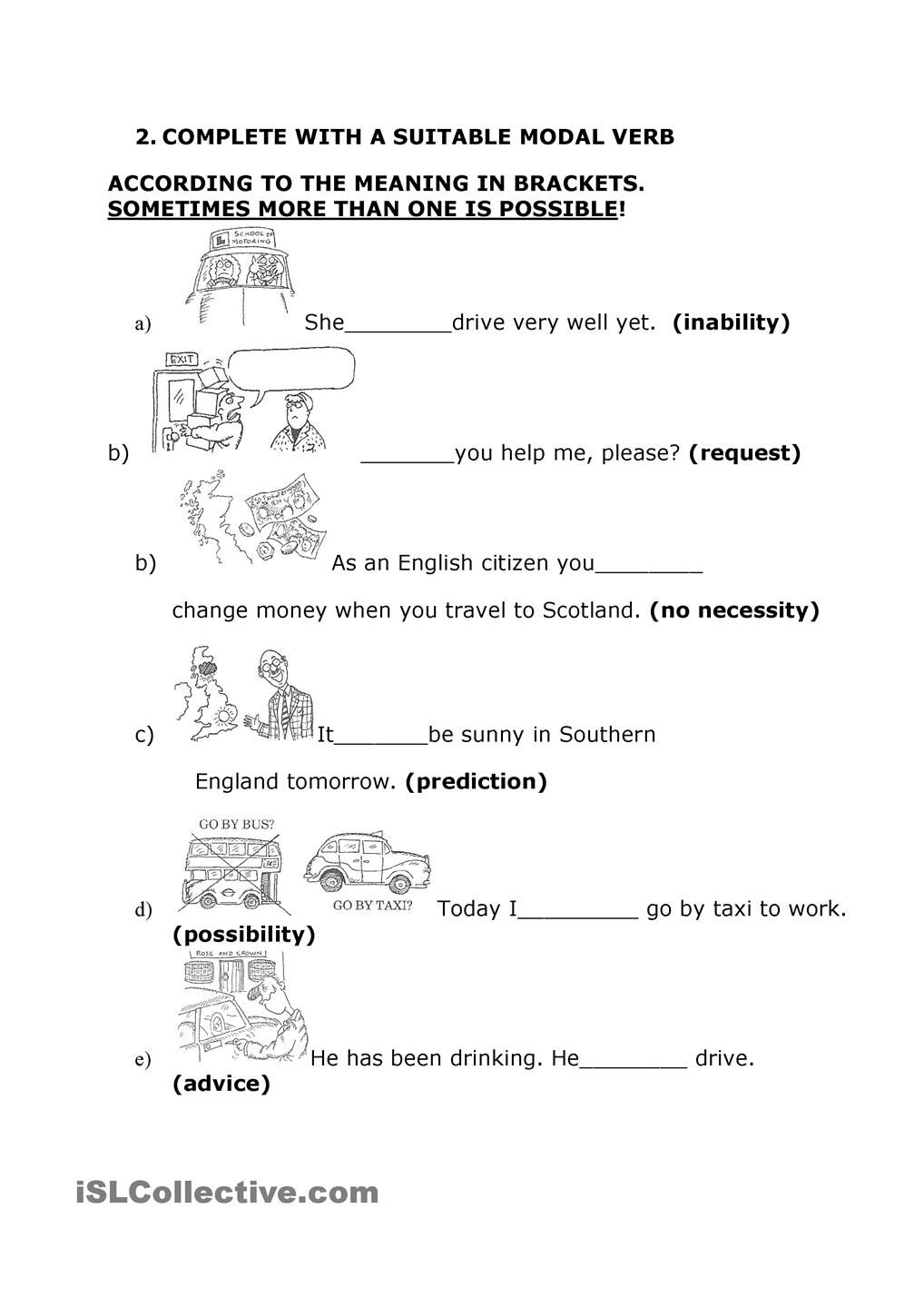 Worksheets Esl Practice Worksheets study and practice modal verbs esl worksheet of the day by mamartins march 30