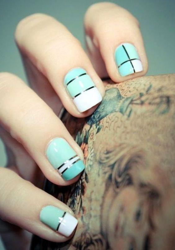 Decoraciones modernas para uñas cortas Uñas cortas, Decoración - uas modernas