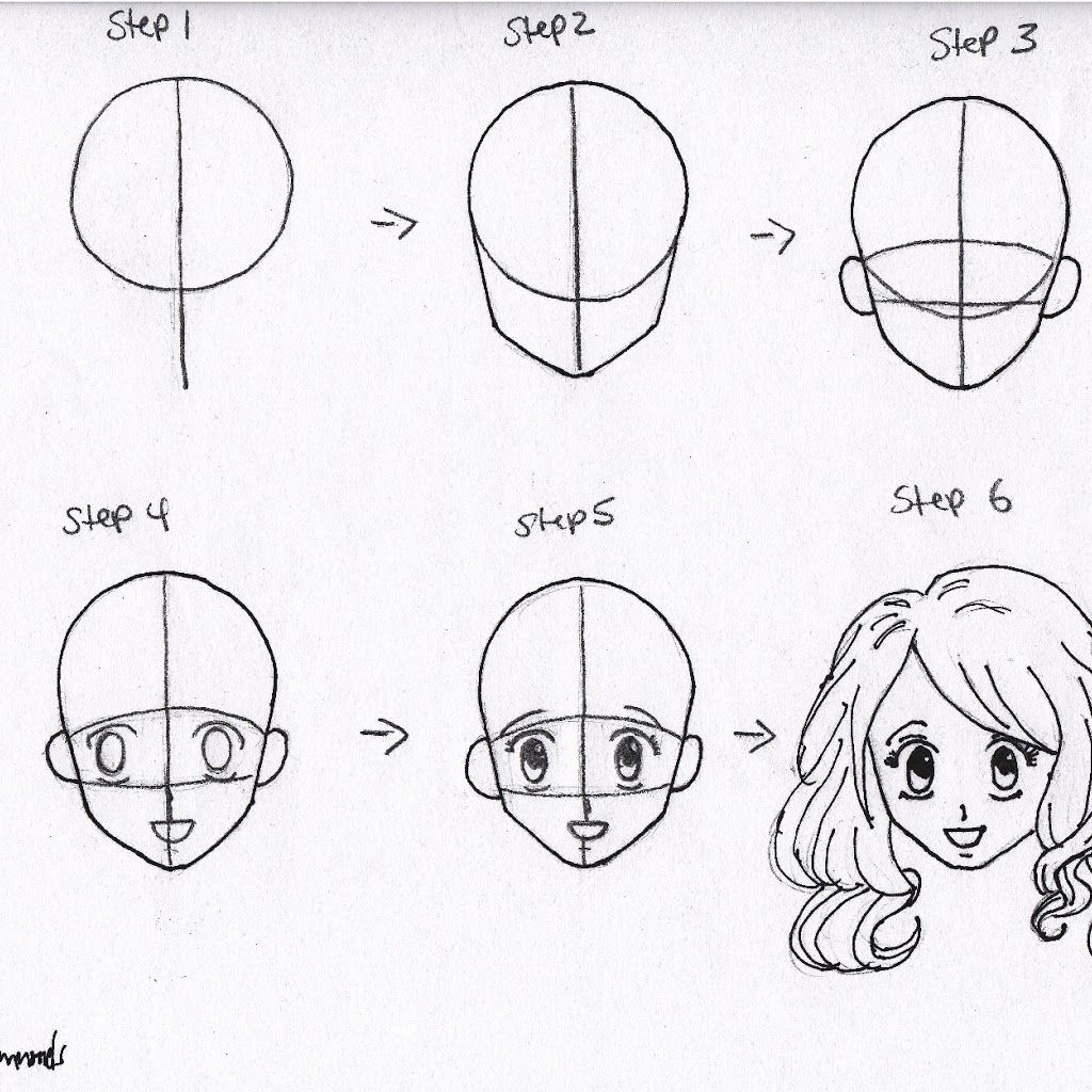 How to draw anime pencil in stages How to draw anime girl 55