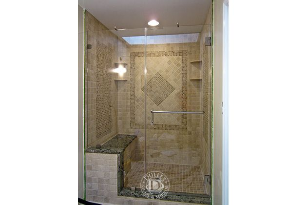 This Glass Shower Door Has Towel Bar Inline Shower Frameless Shower