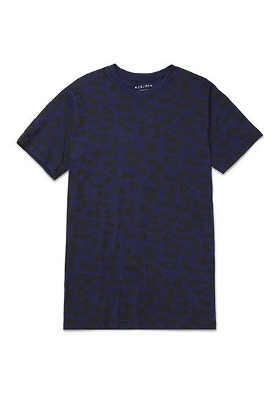 Fashion Wish List: Navy leopard print T-shirt, £85, by Sibling, from mrporter.com