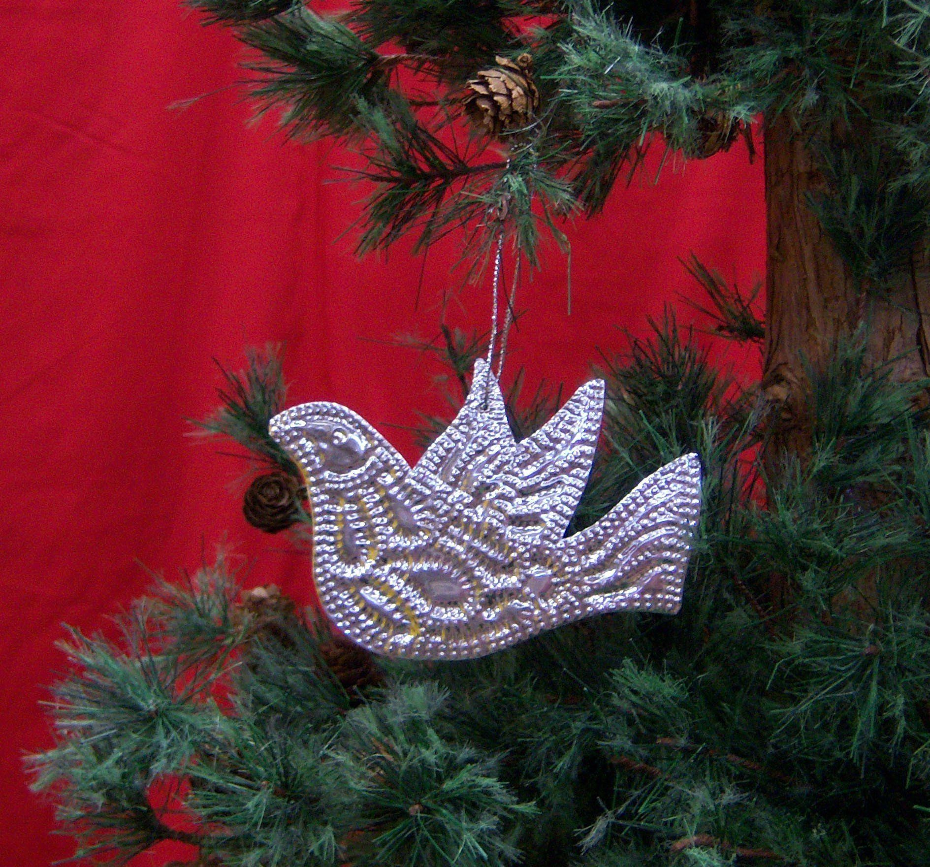 Ornament Punched Metal Dove