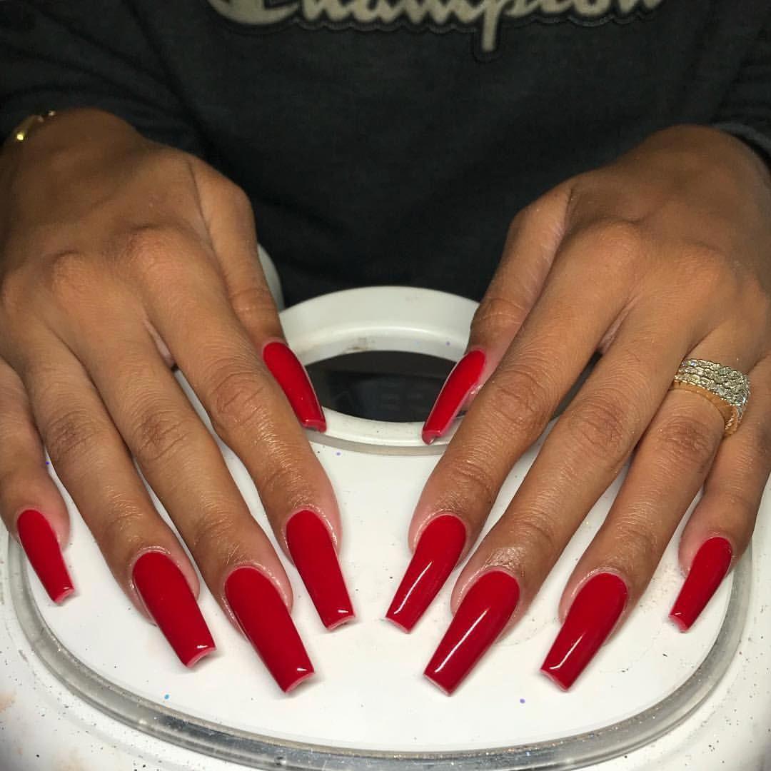 Acrylic Nail Art Ideas Glitter Squareacrylicnails Long Square Acrylic Nails Red Acrylic Nails Square Acrylic Nails