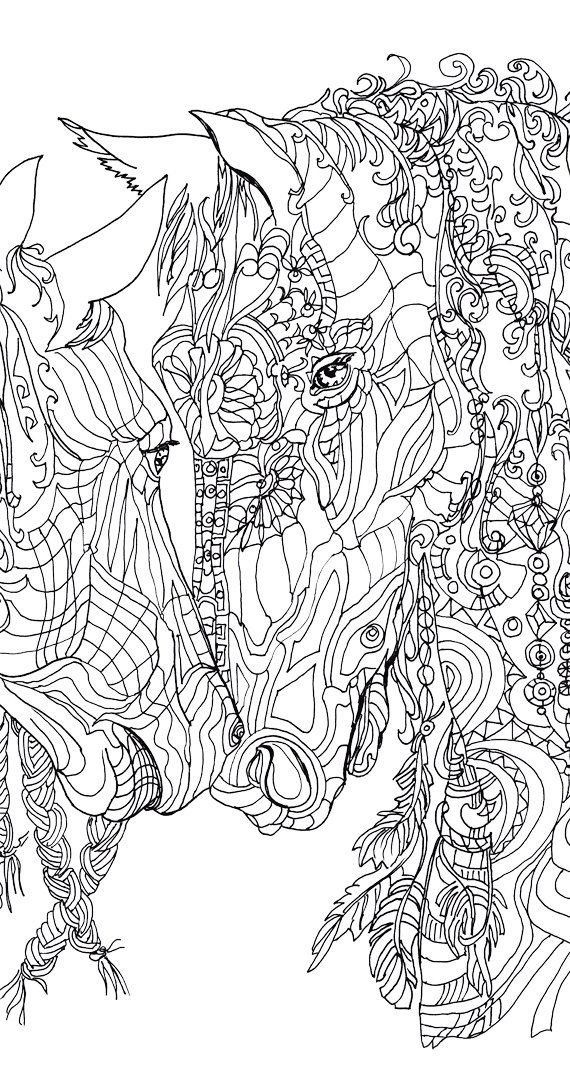 Digital stamp Coloring Pages Printable Adult Coloring book