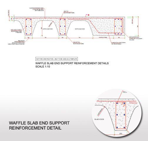 Waffle Slab End Support Reinforcement Detail Slab Reinforced Concrete Concrete Slab