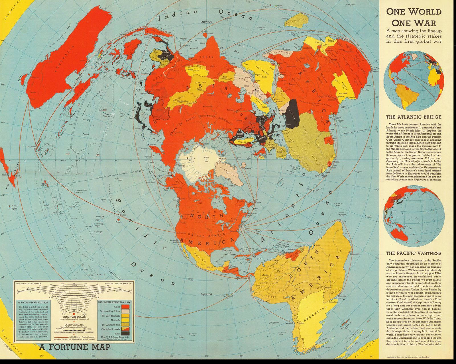 One world one war map 1942 world mappery art illustration one world one war map 1942 world mappery gumiabroncs Images