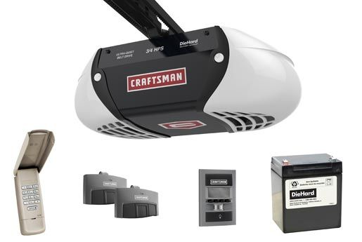 Craftsman Garage Door Opener With Diehard Battery Backup Craftsman Garage Door Garage Door Remote Garage Door Lock