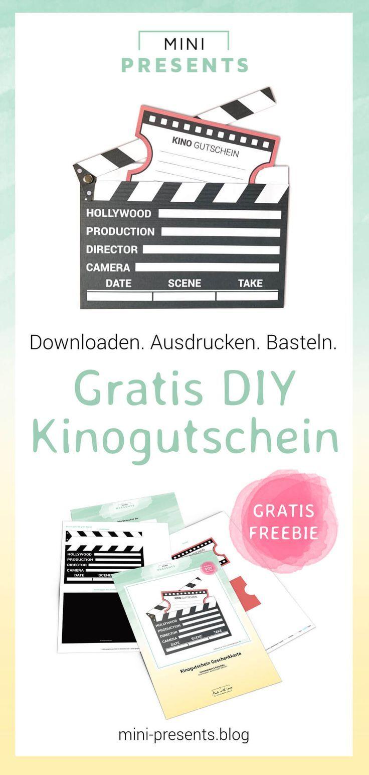 Kinogutschein Als Filmklappe Basteln Cinema Vouchers Blog Presents