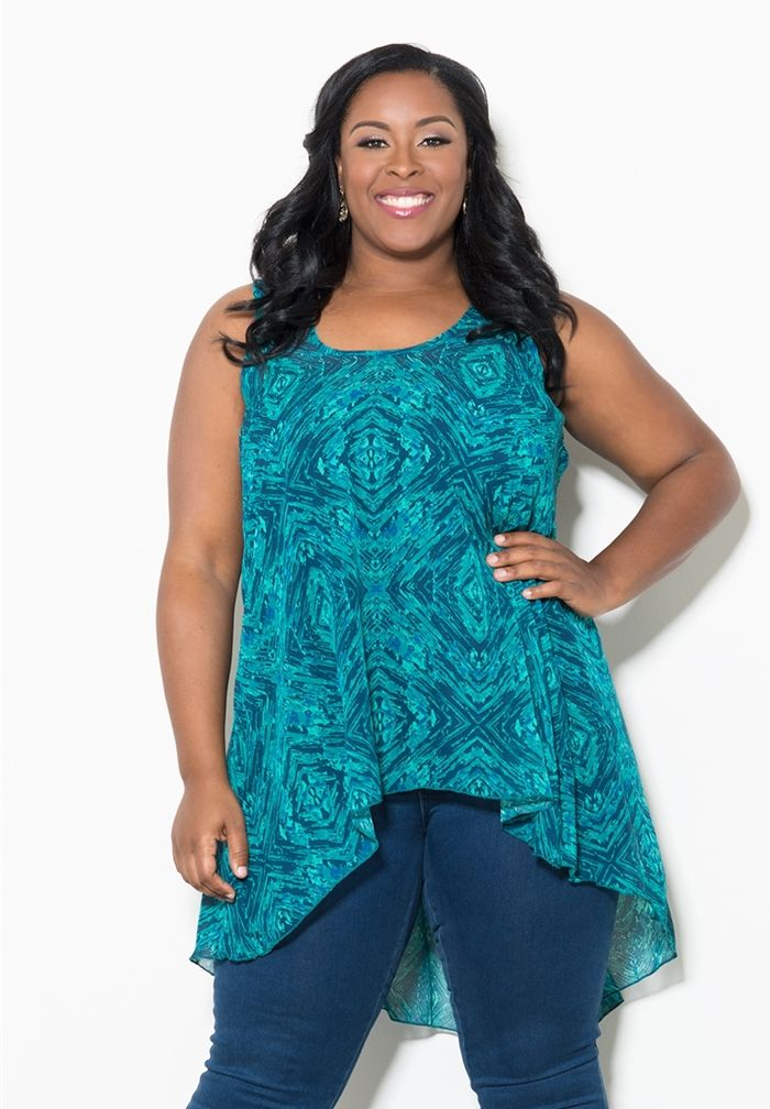 Jessie Chiffon Tank From the Plus Size Fashion Community at www.VintageandCurvy.com