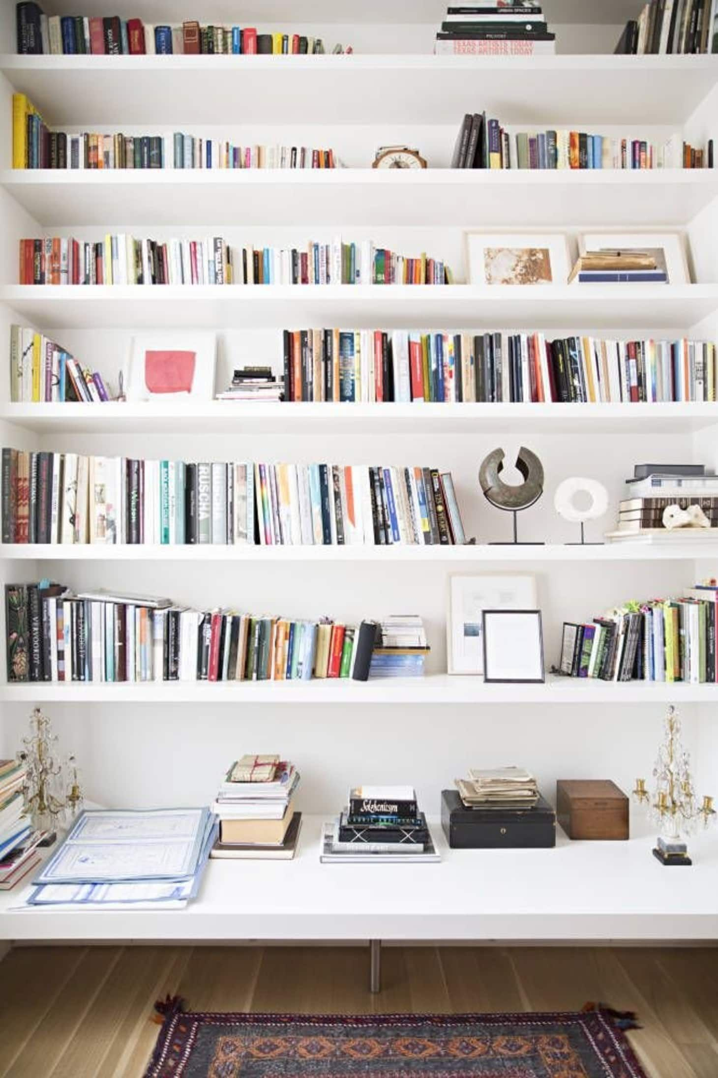 small space secrets swap out your bookcases for wall on wall mount bookshelf id=29546