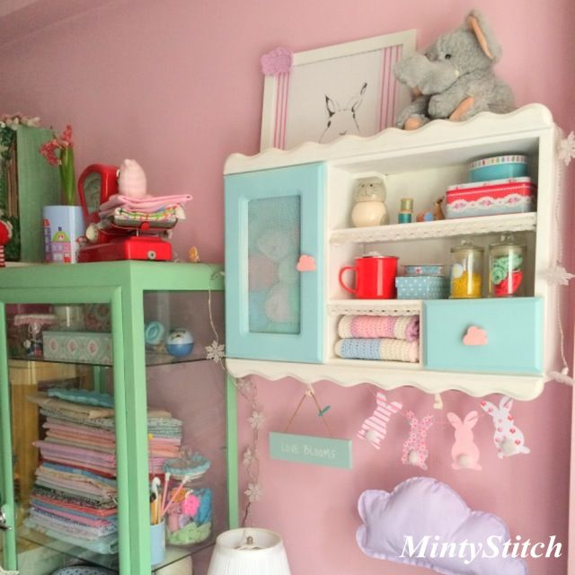 MintyStitch craft room.