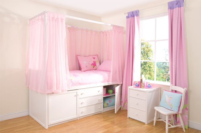 Kids Four Poster Beds | Kids White Four Poster Cabin Bed