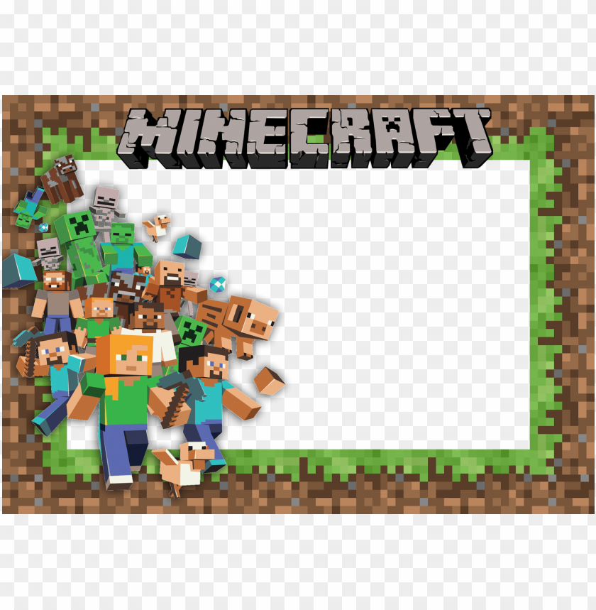 Convite Minecraft Png Image With Transparent Background Png Free Png Images Minecraft Birthday Card Minecraft Birthday Minecraft Birthday Party