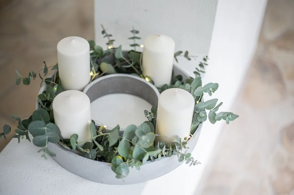 Last Minute DIY: Skandinavischer Ring Adventskranz