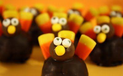 Thanksgiving Turkey Brownie Balls