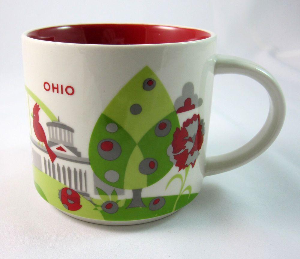 Starbucks Coffee Mug Ohio Collection Series