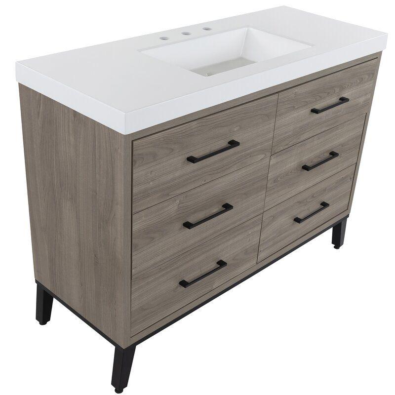 Friedland 49 Single Bathroom Vanity Set In 2020