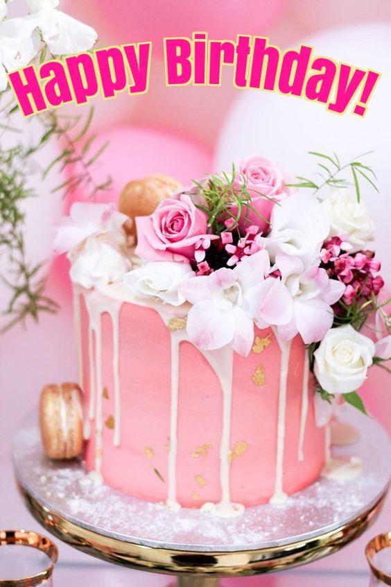 Fabulous Happy Birthday Pink Roses Cake Cheerful Lechezz Original Met Birthday Cards Printable Nowaargucafe Filternl
