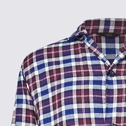 M/&S COLLECTION  Brushed Cotton Checked Shirt