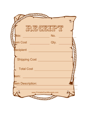 Old Fashioned Receipts 4 Per Page Old Fashioned Vintage Fonts Olds