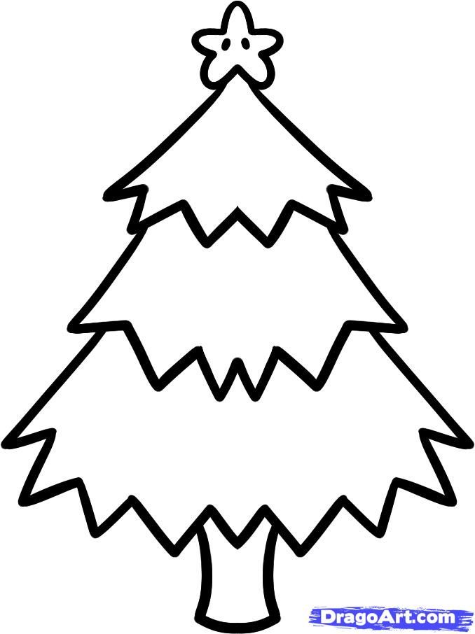 easy christmas drawings for kidshow to draw a christmas tree for - Easy Christmas Tree