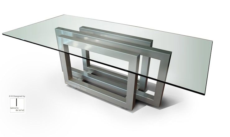 Mesa Acero Inoxidable Y Vidrio Chile Buscar Con Google Rectangular Dining Table Glass Dinning Table Coffee Table Wood