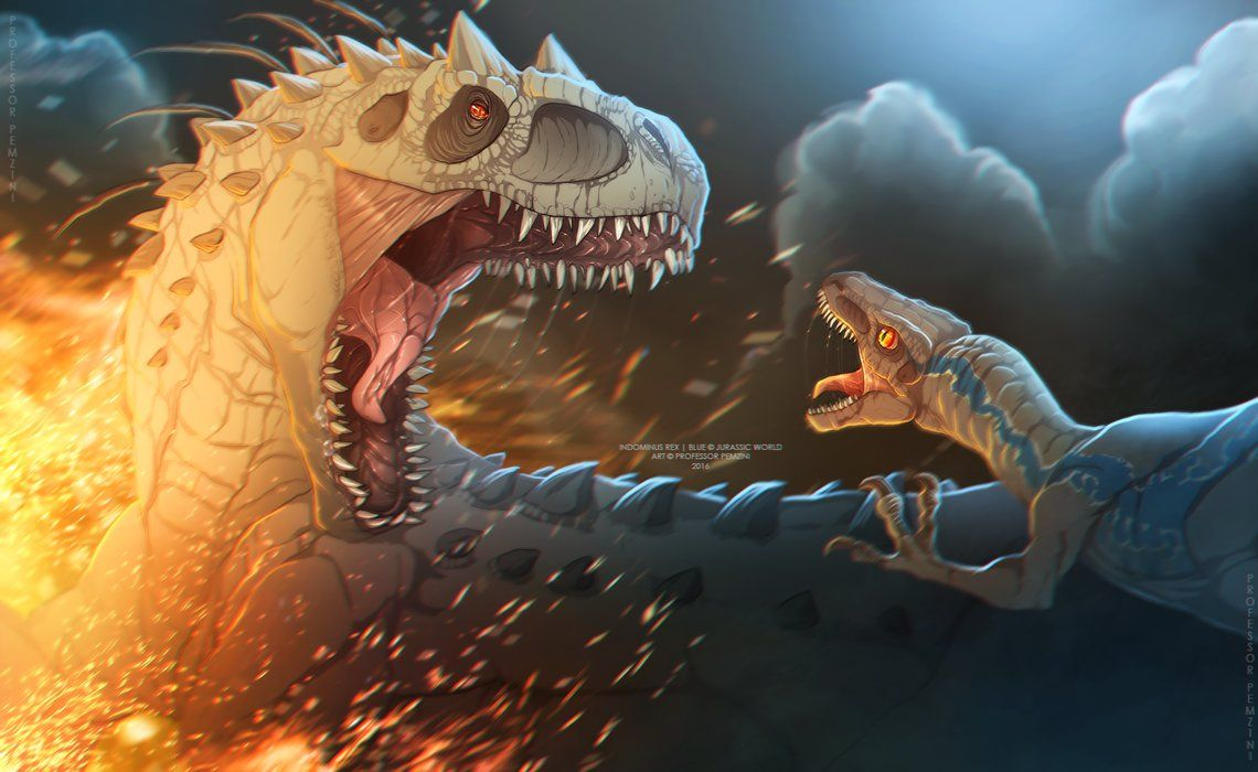 Blue vs Indominus by on