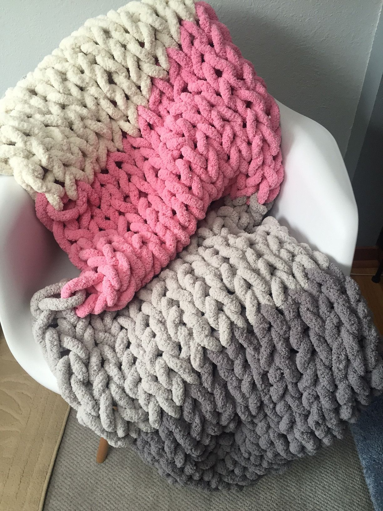 Super Chunky Chenille Yarn Blanket Chunky Yarn Blanket