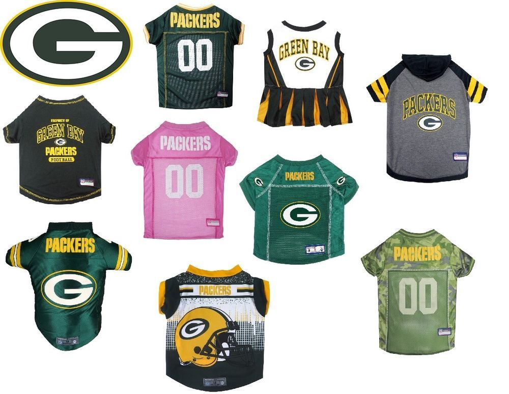 565bc88b990 Green Bay Packers Pet Clothes for Dog or Cats Jersey, T-Shirt, Hoodie,  Dress #PetGear