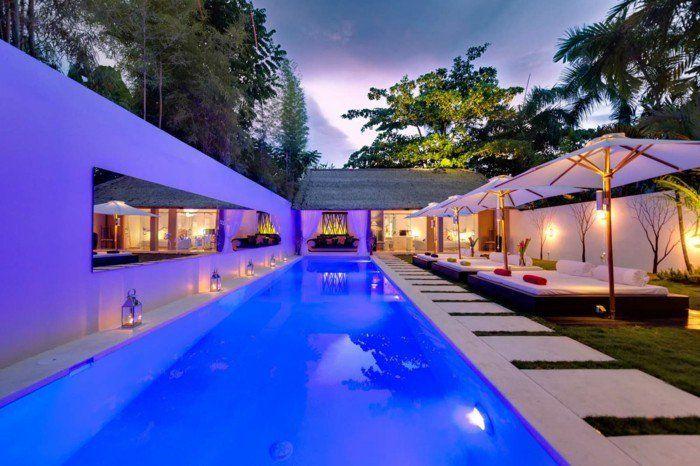 Luxus pool im garten  luxus pool idee für pool im garten   Luxuriöse Designs von Pool ...