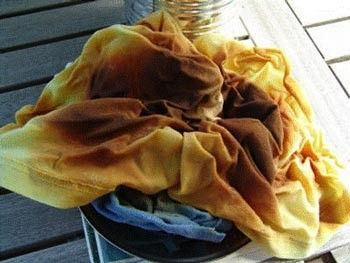 photo of oily rags all piled together