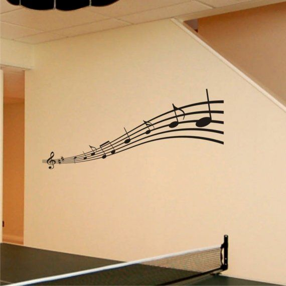 Music Notes Vinyl Wall Art Decal Removable by ChuckEByrdWallDecals ...