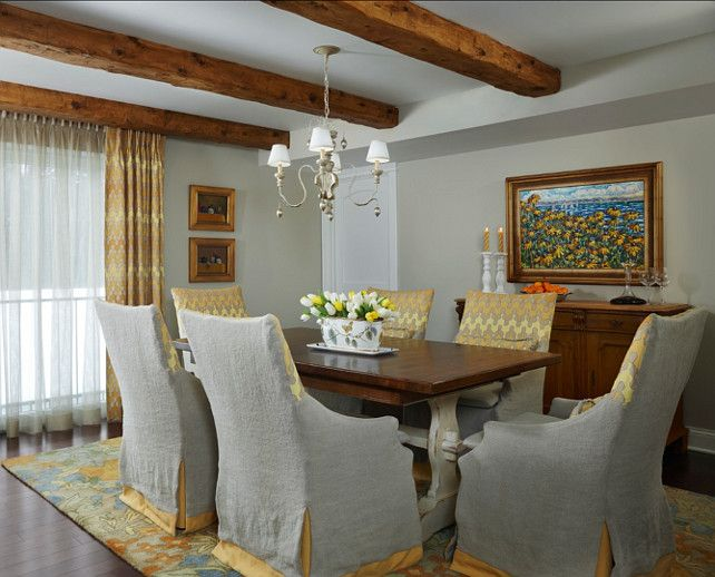 Grey Yellow Dining Rooms Room Ideas Gray With Hints Of Decor Also Traditional Transitional Coastal Interior