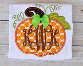 Pumpkin Appliqué Machine Embroidery Design