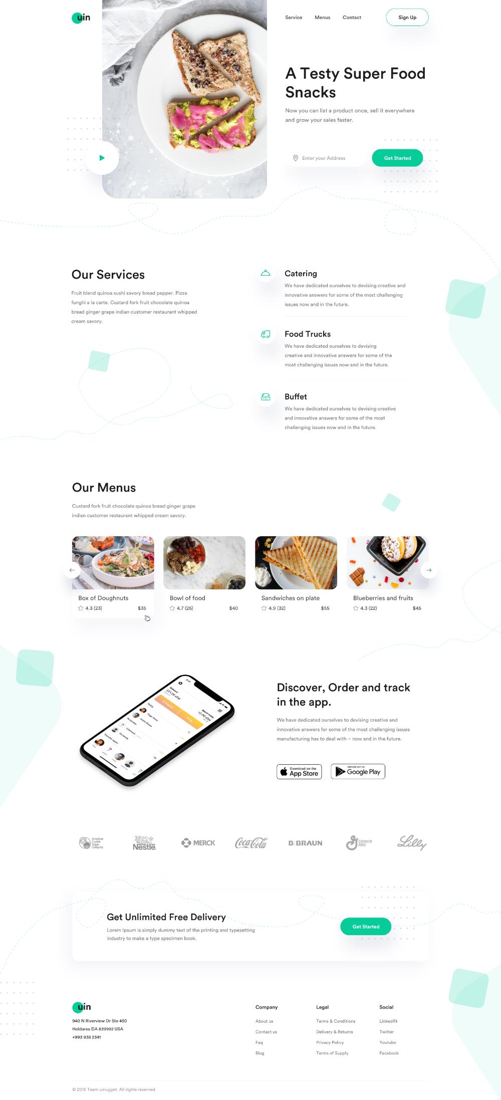 Dribbble Uin Food Jpg By Jabel Ahmed Best Landing Page Design Website Design Restaurant Web