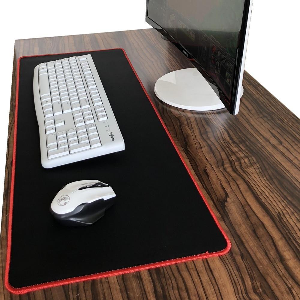 Black Large Gaming Mouse Pad Colorful Lockedge Keyboard Notebook Gamer Mousepad