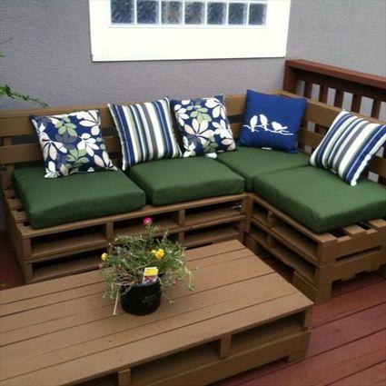 Muebles para exterior hechos con palets pallets patios - Muebles exterior palets ...