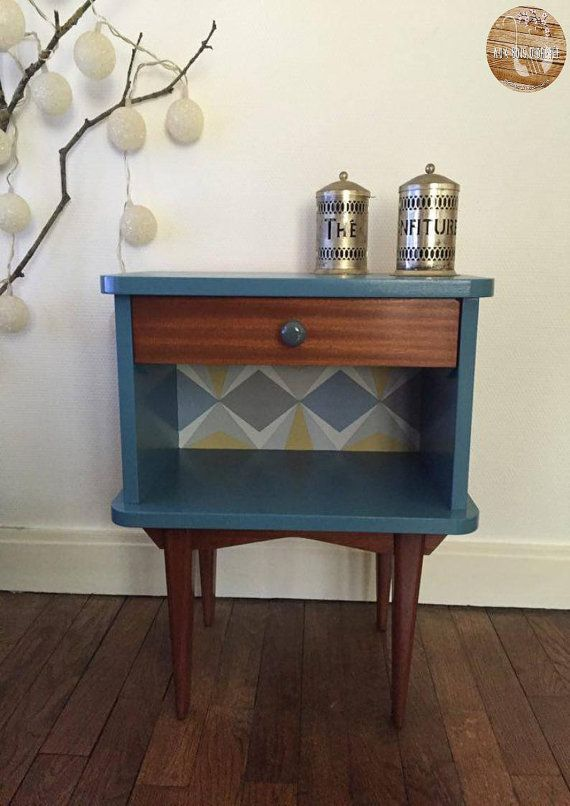 Bedside table - Peindre Table De Chevet
