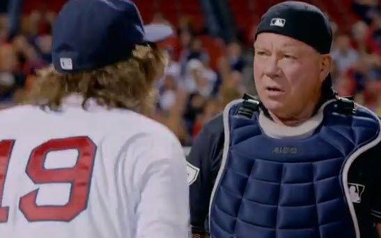 William Shatner as an umpire