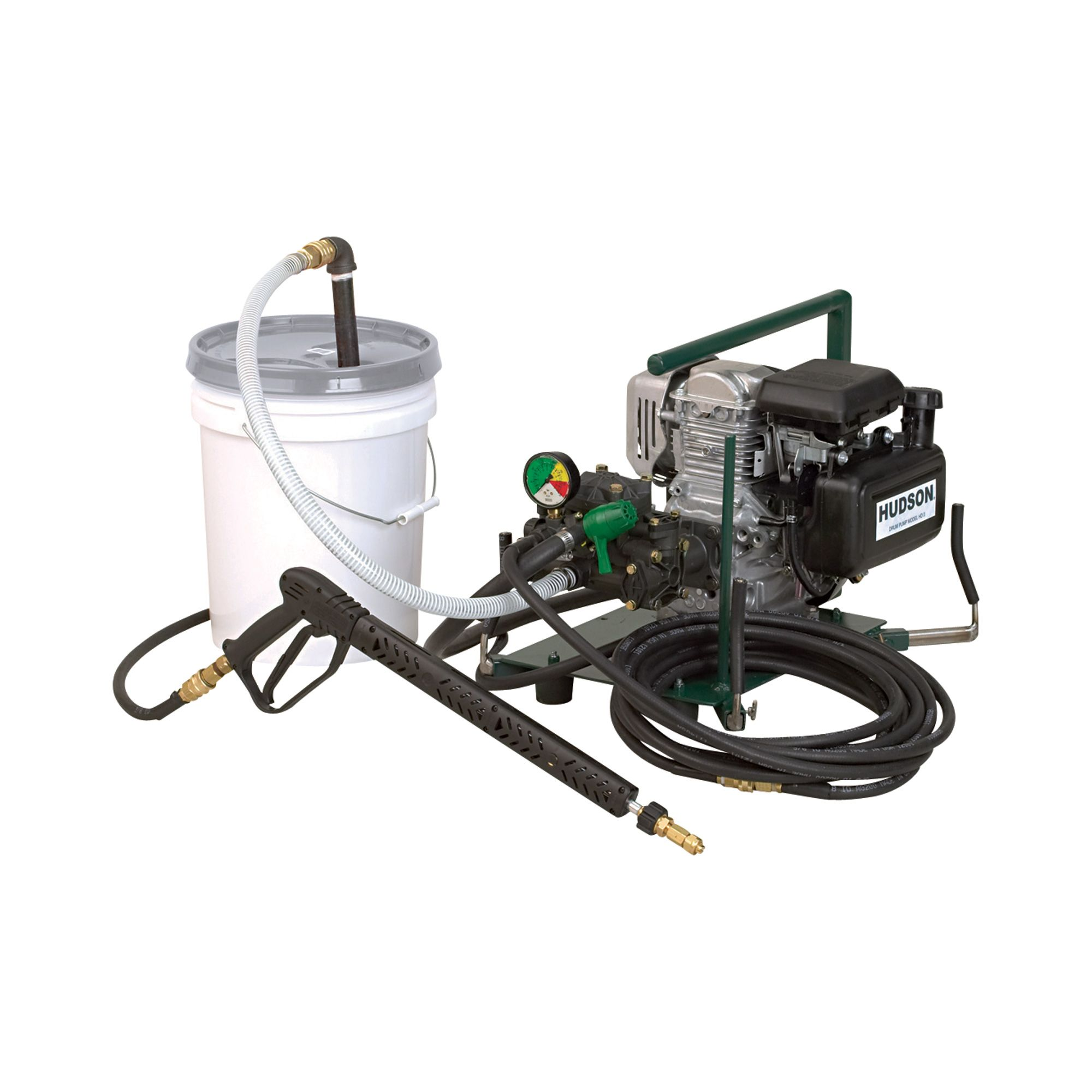 Hudson Commercial Drum Pump Sprayer 5 Hp 3 5 Gpm Model 38470 Portable Sprayers Made In The Usa Sprayers 55 Gallon Drum Gpm