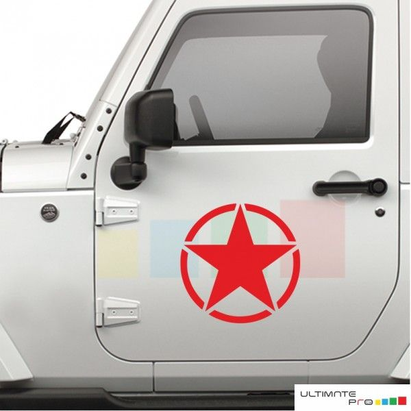 6378bdab Star Decal sticker Compatible with Jeep Wrangler RUBICON Jk | Jeeps ...