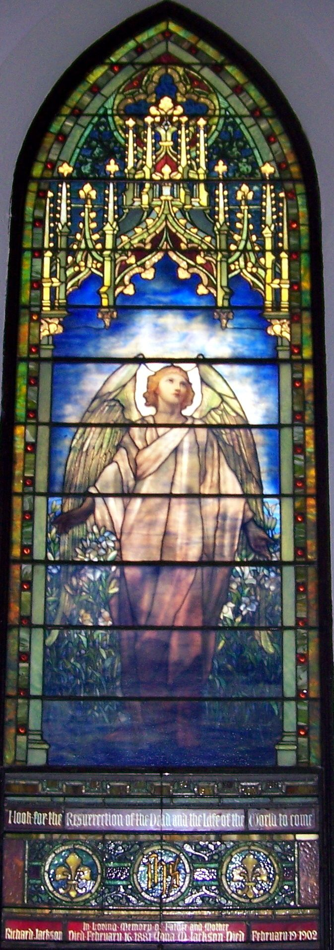 One of the windows on the Tiffany Window Trail in Richmond, Indiana - this one is at St. Paul's Church - www.visitrichmond.org