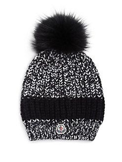 e882238e6de Moncler - Fur Pom-Pom Knit Hat