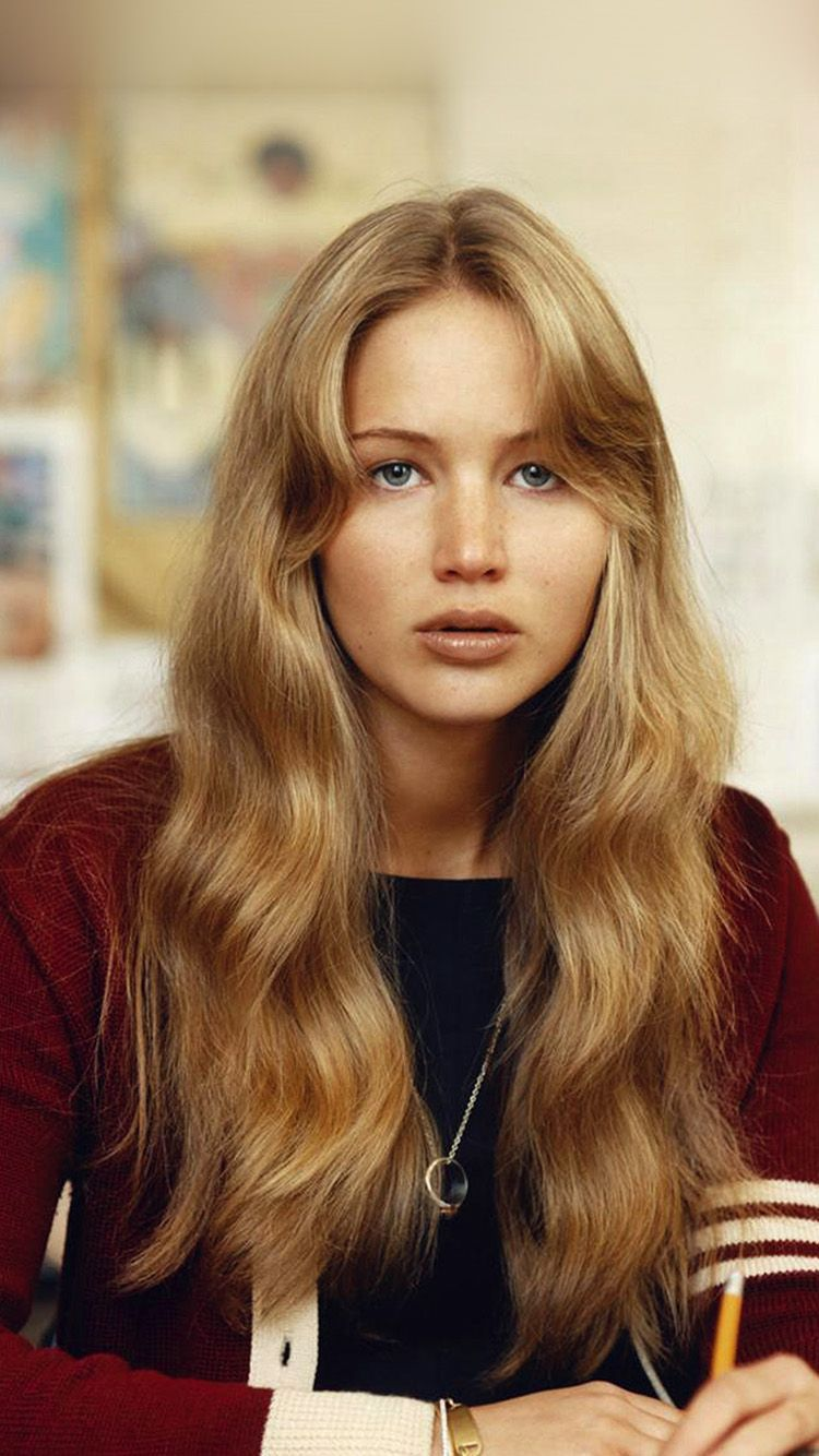 Hr82 Jennifer Lawrence Girl Film Cute Hair Styles 70s Hair Aesthetic Hair