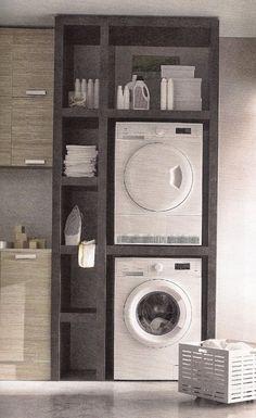 Wenn der Trockner und die WaMa in die Küche MÜSSEN … | Pinteres…
