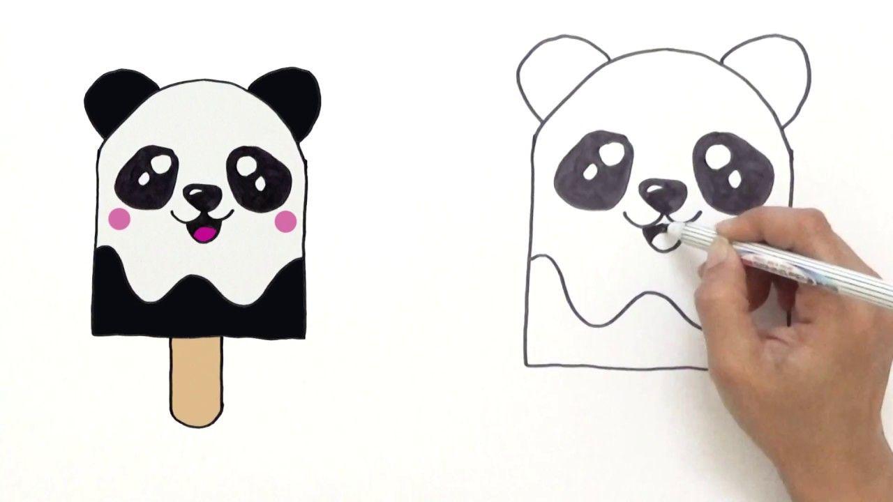 How To Draw Cute Panda Ice Cream Very Easy Hde Youtube Panda Drawing Cute Panda Drawing Unicorn Drawing