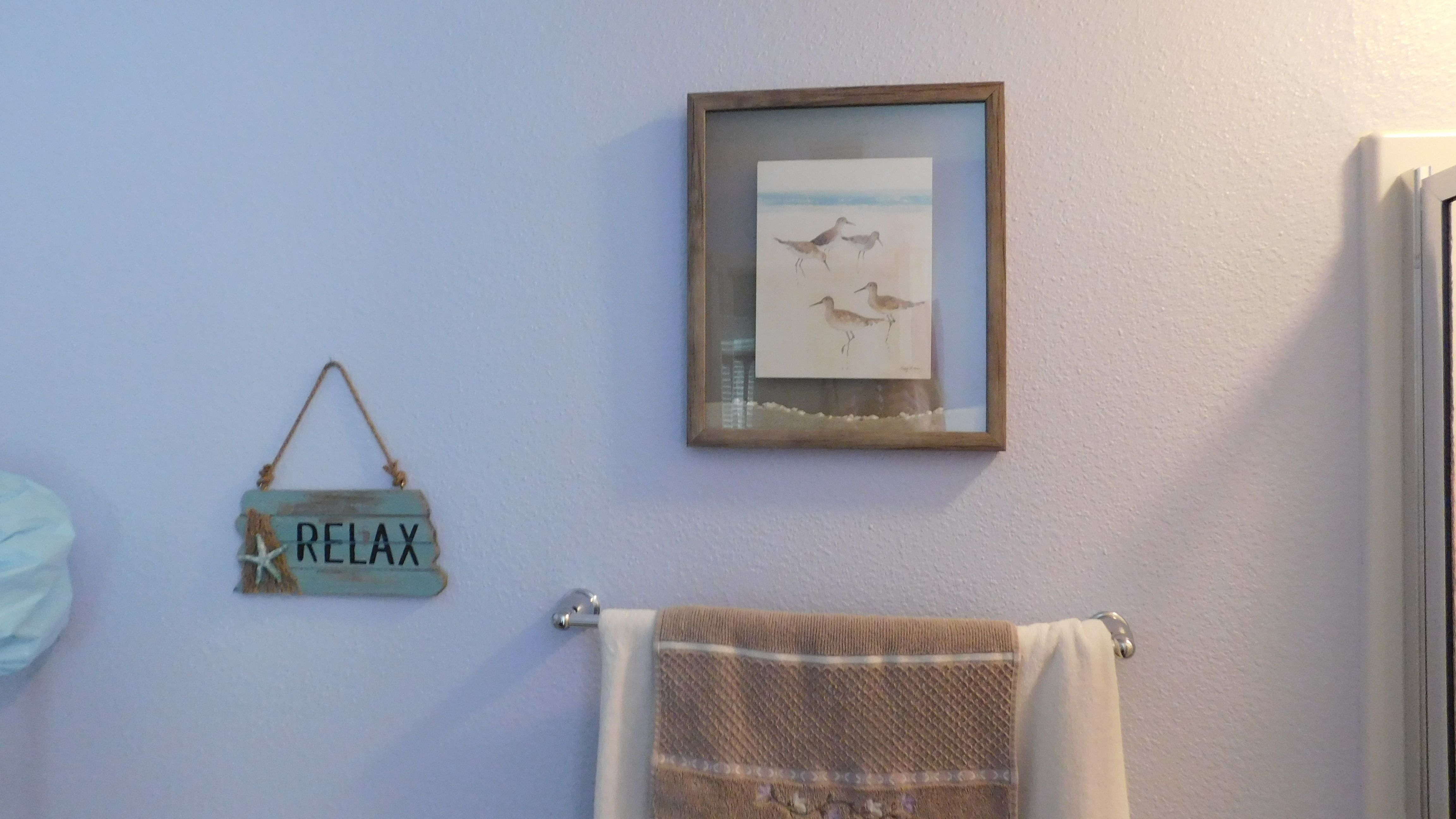 Bathroom Painted With Behr Angelic Blue, Which Is A Periwinkle