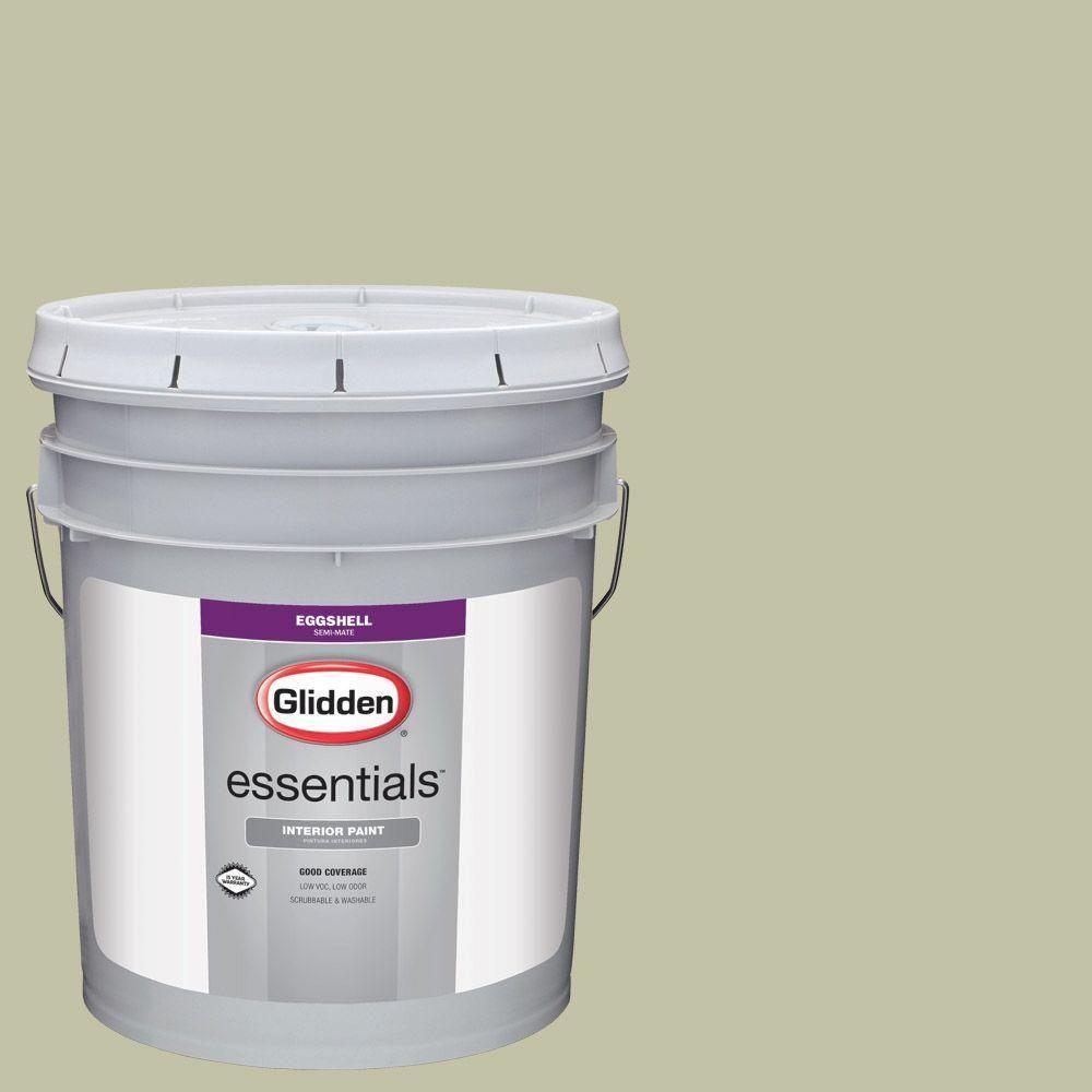Glidden Essentials 5 gal. #HDGG24 Prairie Sage Eggshell Interior Paint