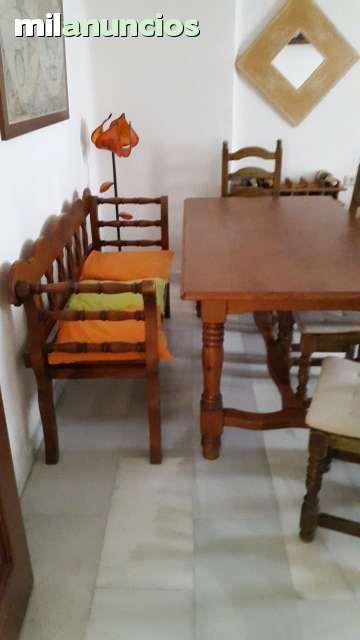Conjunto comedor de muebles rondeños en madera maciza acabados en ...